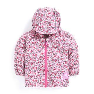 【英國 JoJo Maman BeBe】輕量級雨衣/風衣_繽紛粉花(JJJK-7321a)