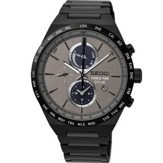【SEIKO】SPIRIT 太陽能世界時間計時腕錶(V195-0AE0N SSC527J1)