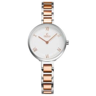 【OBAKU】溫柔細羽雙色快拆時尚腕錶(V195LXCISV)