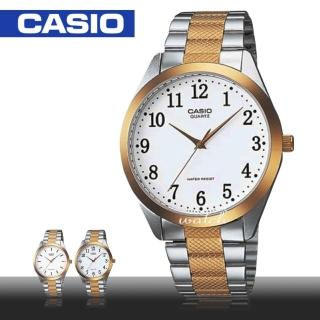 【CASIO 卡西歐】簡約時尚_不鏽鋼錶帶_防水_礦物玻璃_指針男錶(MTP-1274SG)