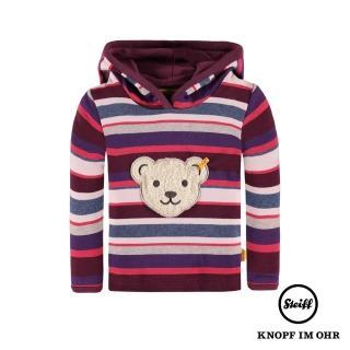 【STEIFF德國精品童裝】長袖熊頭連帽T恤衫(長袖上衣)
