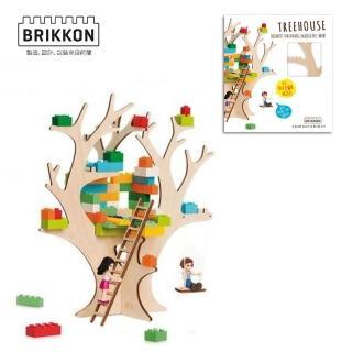 【BabyTiger虎兒寶】荷蘭 BRIKKON(益智遊戲板 我的秘密樹屋)