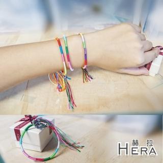 【Hera】赫拉 彩色分段編織幸運手鍊/手繩/腳鍊(不挑色)