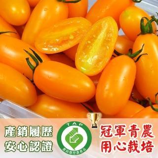 【鮮果有邑】美濃嚴選薄皮香甜爆汁金瑩小蕃茄禮盒-4盒