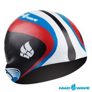 【俄羅斯MADWAVE】成人矽膠泳帽(RACING)
