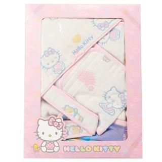 【凱蒂貓】六層紗禮盒組(包巾+小肚圍)