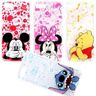 【Disney 迪士尼】iPhone 7 摀嘴系列 彩繪透明保護軟套(4.7吋)