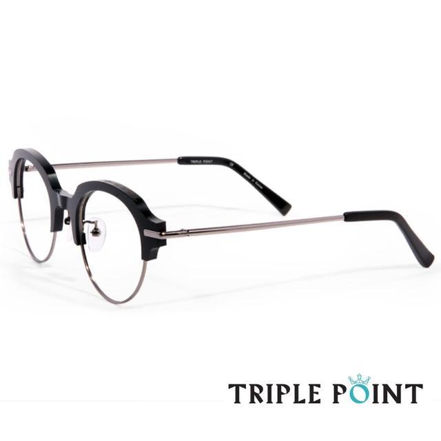 【TRIPLE POINT 韓國】人氣潮流光學鑽石 項鍊 推薦眼鏡 NE系列(-黑 + 銀- NE BK)