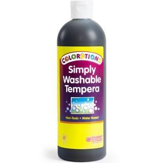 【美國 Colorations】易洗式小童顏料-基本黑(全美最好清洗的兒童顏料)