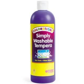 【美國 Colorations】易洗式小童顏料-基本紫(全美最好清洗的兒童顏料)