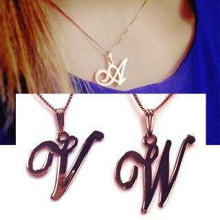 【Anna Lou Of London】倫敦品牌 V W 個性字母項鍊 玫瑰金(絕版品 售完不補)