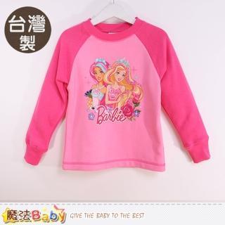 【魔法Baby】專櫃款女童裝 台灣製芭比正版厚款長袖T恤(k60307)