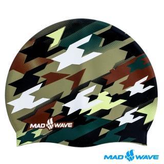 【俄羅斯MADWAVE】成人矽膠迷彩泳帽(MILITARY)