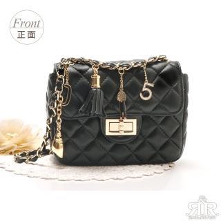 【2R】酷馳羊皮NO.5吊飾包 時尚黑