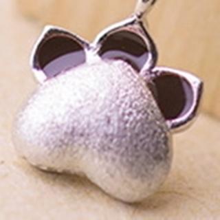 【米蘭精品】項鍊銀飾品(熊掌造型獨特迷人百搭母親節生日情人節禮物73y108)