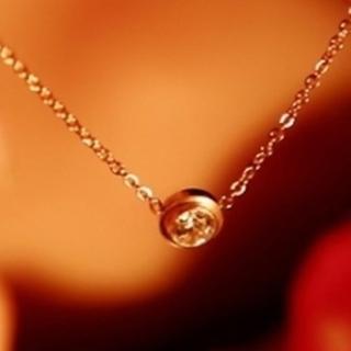 【米蘭精品】玫瑰金鑲鑽項鍊吊墜子(時尚流行七夕女流行飾品情人節生日禮物3色71x1)