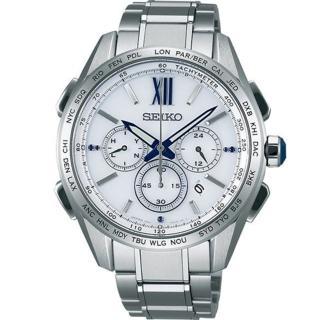 【SEIKO】Presage 羅馬時尚機械女錶-銀/34mm(4R35-01B0S  SPR861J1)