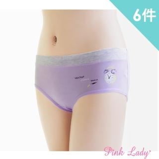 【PINK LADY】迷尼可愛小鬧鐘棉柔舒適內褲921(6件組)