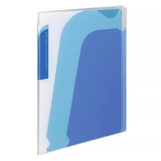 【KOKUYO】Novita 5層檔案資料夾-附夾鍊袋(藍)