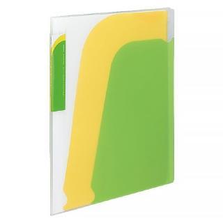 【KOKUYO】Novita 5層檔案資料夾-附夾鍊袋(淺綠)