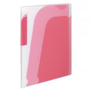 【KOKUYO】Novita 5層檔案資料夾-附夾鍊袋(粉)