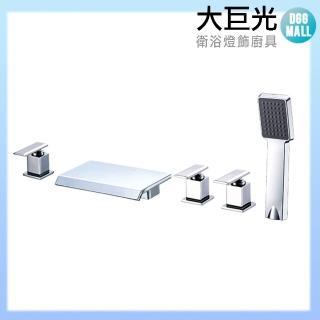 【大巨光】浴用檯面雙槍水龍頭_5件式_不鏽鋼(TAP-112086)