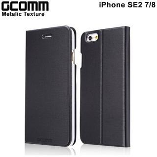 【GCOMM】iPhone7 4.7吋 Metalic Texture 金屬質感拉絲紋超纖皮套(紳士黑)
