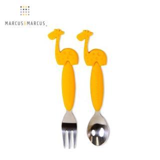 【加拿大MARCUS&MARCUS】動物樂園不鏽鋼叉匙餐具組(長頸鹿)