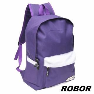 【韓系型男ROBOR】簡約休閒風簡約後背包(紫色)