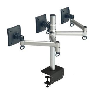 【FOGIM】夾桌懸臂式液晶螢幕支架-三螢幕 終身保固(TKLA-6033C1-S)