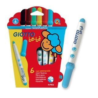 【義大利GIOTTO】可洗式寶寶彩色筆(6色)