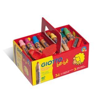 【義大利GIOTTO】可式洗寶寶木質蠟筆手提組(36入)
