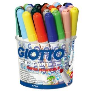 【義大利GIOTTO】超好洗粗細雙效彩色筆(12色36支)