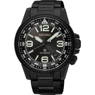 【SEIKO】精工 Prospex 空軍爭霸機械腕錶-鍍黑/42mm(4R35-01N0SDSRPA73J1)