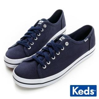 【Keds】中性基本綁帶休閒鞋(海軍藍)