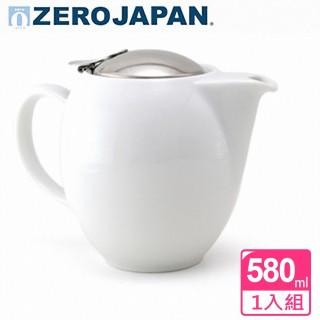【ZERO JAPAN】品味生活陶瓷不鏽鋼蓋壺580cc(白色)
