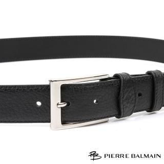 【PB-皮爾帕門】雙車邊荔枝紋 頭層牛皮休閒針扣皮帶(500)