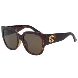【GUCCI】-經典粗版 太陽眼鏡(琥珀色)