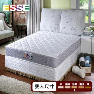 【ESSE御璽名床】二線防蹣加厚獨立筒床墊(5x6.2尺-雙人尺寸)