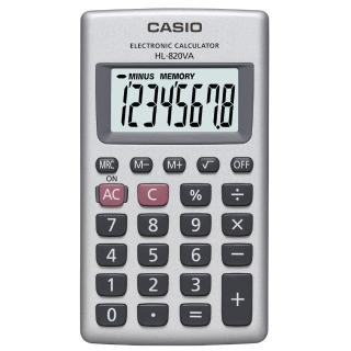 【CASIO】8位數口袋型商務計算機(HL-820VA)