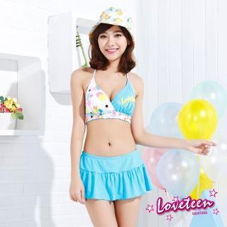 【夏之戀LOVETEEN】比基尼二件式連褲裙(N15704)
