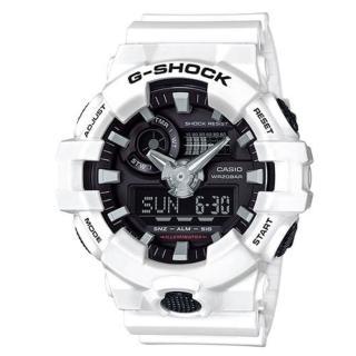【CASIO】G-SHOCK 3D立體整點刻度搶眼視覺效果設計雙顯錶(GA-700-7A)