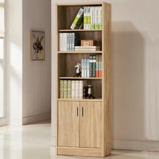 【COMDESK】六格雙門櫃-3D木紋-淺木色(書櫃/收納櫃)