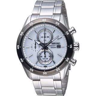 【SEIKO 精工】Criteria 極速狂風太陽能計時腕錶(V176-0AR0W SSC535P1)