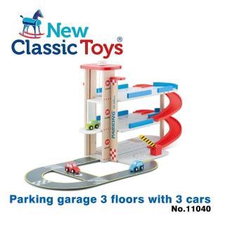 【荷蘭New Classic Toys】木製立體停車場玩具(11040)