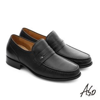 【A.S.O】極致工藝 柔軟鹿皮手縫紳士鞋(深咖啡)
