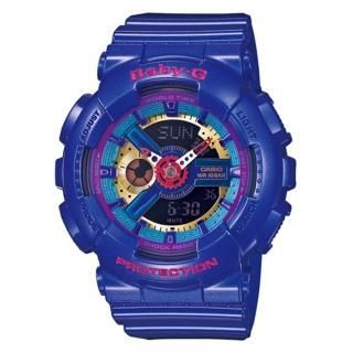【CASIO卡西歐】Baby-G 多層次繽紛立體感 個性休閒錶(BA-112-2ADR-46mm)