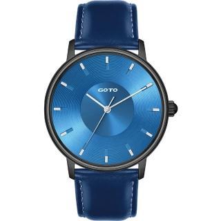 【GOTO】THINK簡約時尚手錶-IP黑x藍(GL0013M-3L-L21)
