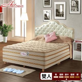 【Antonia】二線 背柔 五段式獨立筒床墊-雙人5尺(高蓬度+天絲棉+德國乳膠)