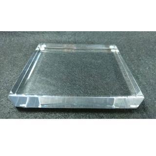【創藝工坊】透明壓克力底座12x10x2 cm(藝術品展示 底座配件 透明壓克力)